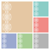 Wedding invitation or greeting cards collection design with lace pattern, ornamental  illustration.  Stock Image