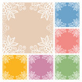 Wedding invitation or greeting cards collection. Design with lace pattern, ornamental vector illustration Stock Photos