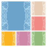Wedding invitation or greeting cards collection. Design with lace pattern, ornamental vector illustration Stock Photo