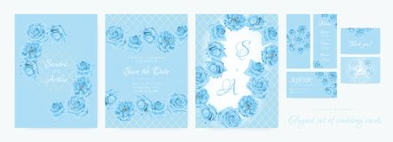 Wedding Invitation, Greeting Cards Collection. vector illustration