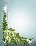 Wedding invitation Hydrangea Stock Images