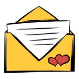 Wedding invitation icon cartoon Stock Image