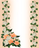 Wedding Invitation Ivy And Peony Royalty Free Stock Photography
