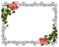 Wedding invitation Ivy Floral Border  Stock Image