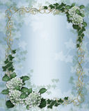 Wedding invitation Ivy floral border Royalty Free Stock Images