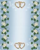 Wedding invitation Ivy, Peony border Royalty Free Stock Photo