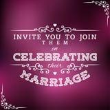 Wedding Invitation Label Royalty Free Stock Photos