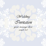 Wedding Invitation with lace background Stock Images