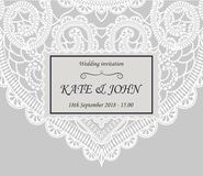 Wedding invitation with lace. Vector illustration vector illustration