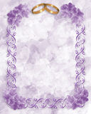 Wedding Invitation Lavender Flowers  Royalty Free Stock Photos