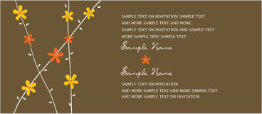Wedding Invitation Panels Royalty Free Stock Photography