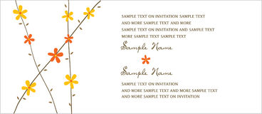 Wedding Invitation Panels. Invitation panel to use for invitation to party, wedding or any occasion Stock Photos