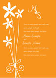 Wedding Invitation Panels. Invitation panels to use for invitation to party, wedding or any occasion Stock Images