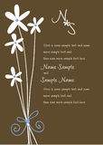 Wedding Invitation Panels Royalty Free Stock Image