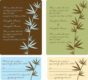 Wedding Invitation Panels. Bamboo invitation set with reply cards - use for all occasions Royalty Free Stock Photos