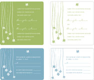 Wedding Invitation Panels Stock Images