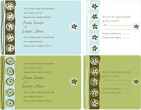 Wedding Invitation Panels. Invitation panels and Reply Cards - use for weddings, parties, anniversaries, showers Royalty Free Stock Photo
