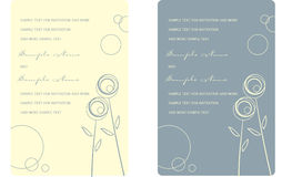 Wedding Invitation Panels Stock Photography