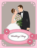 Wedding invitation pink Royalty Free Stock Photo
