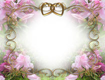 Wedding Invitation Pink Azaleas Stock Images
