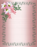 Wedding invitation Pink floral Border Royalty Free Stock Images