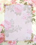 Wedding invitation pink roses Royalty Free Stock Image