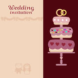 The wedding invitation vector card Royalty Free Stock Photos