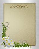 Wedding invitation plumeria and ivy Royalty Free Stock Photos