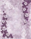 Wedding invitation purple floral template stock photography