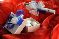Wedding invitation with ribbon Stock Image
