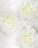 Wedding invitation roses and pearls Stock Photography