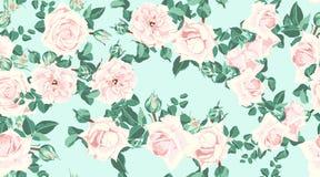 Wedding Invitation, Roses Seamless Pattern. vector illustration
