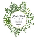 Wedding Invitation, rsvp modern card Design. Vector natural, bot. Anical, elegant template.Wedding floral watercolor style, invitation, save the date card royalty free illustration