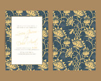 Wedding invitation and save the date cards Royalty Free Stock Photo