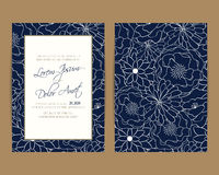 Wedding invitation and save the date cards Royalty Free Stock Photography