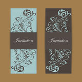 Wedding invitation and save the date cards Stock Photos