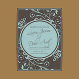 Wedding invitation and save the date cards Stock Image