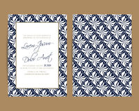 Wedding invitation and save the date cards Stock Photography