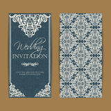Wedding invitation and save the date cards. Also can be used as greeting cards, birthday cards or party invitations vector illustration