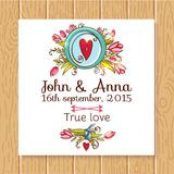 Wedding invitation save the date cards Royalty Free Stock Image