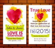 Wedding invitation save the date cards Stock Photography