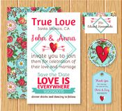 Wedding invitation save the date cards Stock Photo