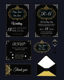 Wedding invitation , Save the date, RSVP card, Thank you card, T. Able number, Gift tags, Place cards, Respond card Royalty Free Stock Photos