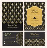 Wedding invitation , Save the date, RSVP card, Thank you card, T. Able number, Gift tags, Place cards, Respond card Royalty Free Stock Photography