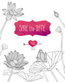 Wedding invitation save the date Stock Photo