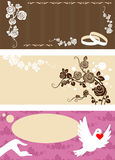 Wedding invitation set Stock Images