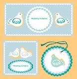 Wedding invitation set Royalty Free Stock Photo