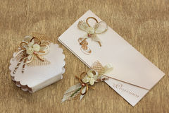 Wedding invitation set Stock Photography