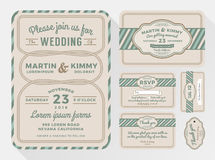 Wedding invitation sets for your lovely and friendly celebration design Royalty Free Stock Images