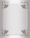 Wedding invitation silver bells Stock Image
